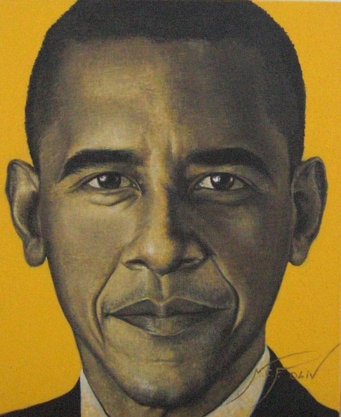 Barack Obama - 46 x 55 cms.