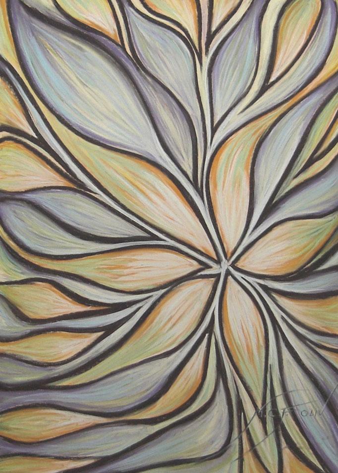 PÉTALOS I - 70 x 100 cm - pastel