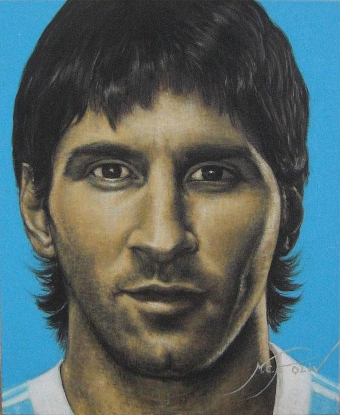 Leo Messi - 46 x 55 cms.