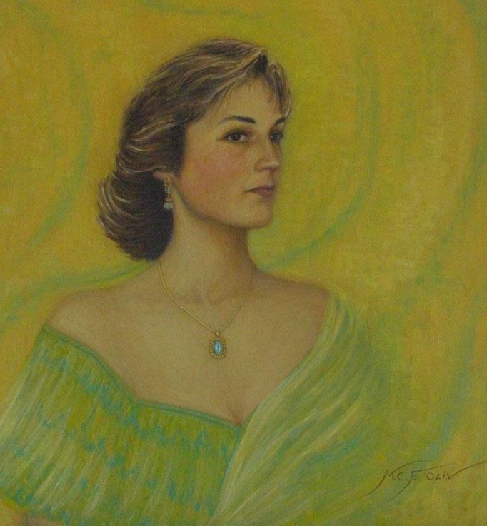 Mujer con colgante - 65 x 81