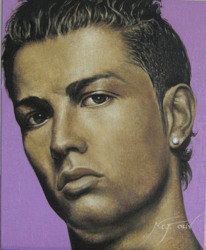 Cristiano Ronaldo - 46 x 55 cms.