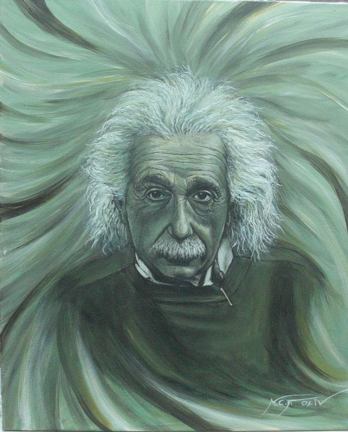 Albert Einstein  -     50 x 61 cm