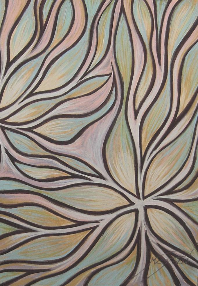 PÉTALOS II -70 x 100 cm. - pastel