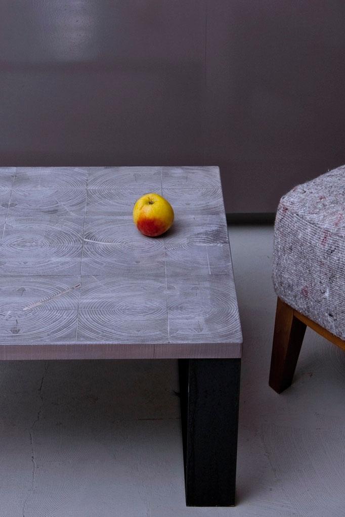end grain wood coffee table