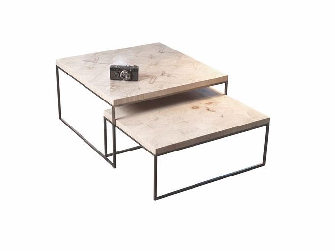 WHARE block's Hirnholz Beistelltische handgefertigt/produkt design