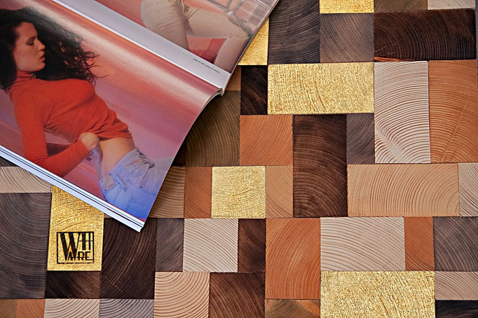 end grain wood table