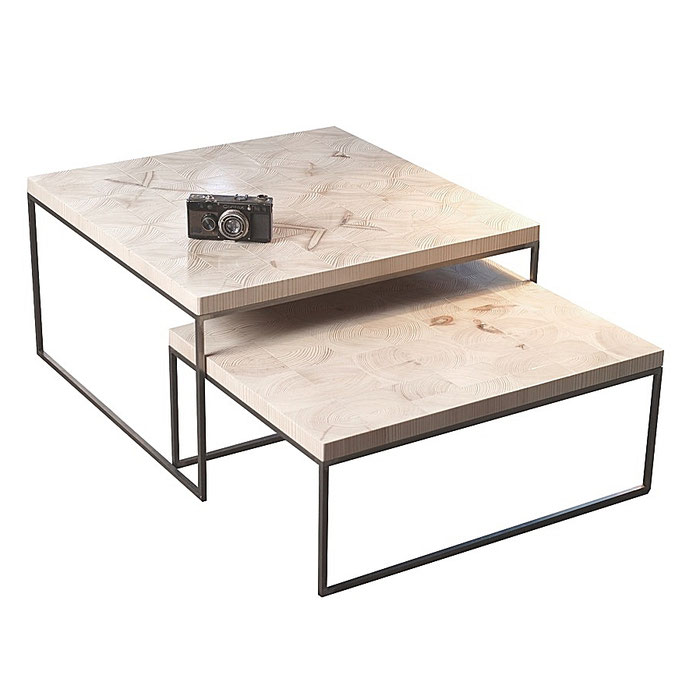 coffee table end grain uni/white