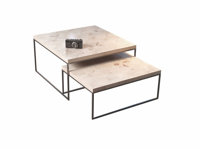 end grain wood coffee table/produkt design