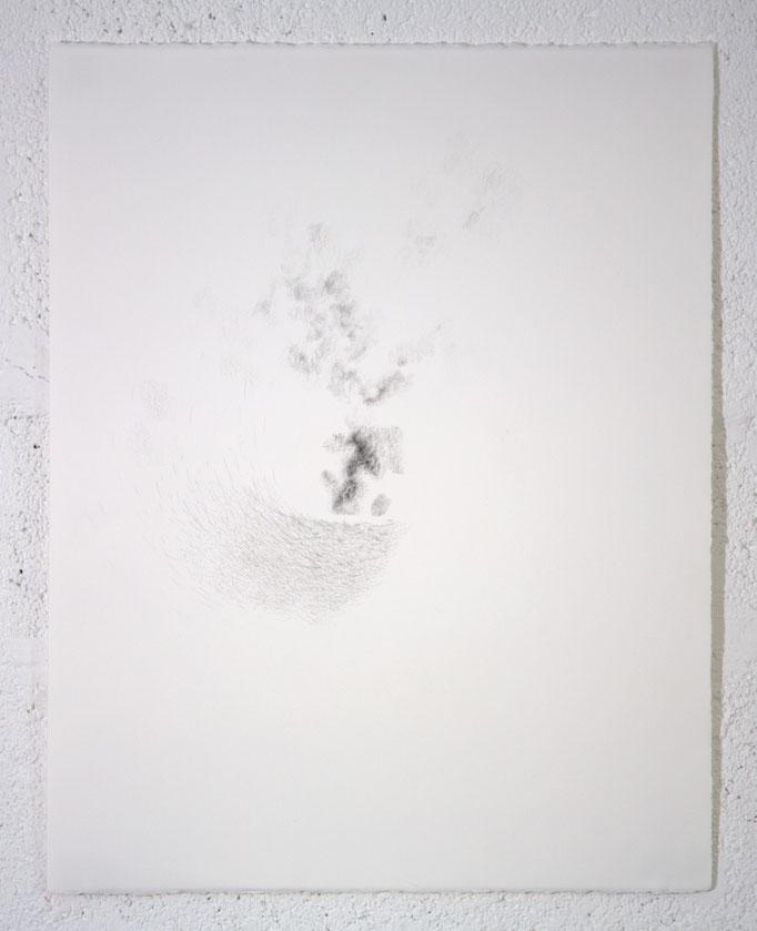"""""""In inconstantia constans. (À l'inachevé)"""", dessin, 50,5x65,5 cm, graphite sur BFK Rives, 2019"""