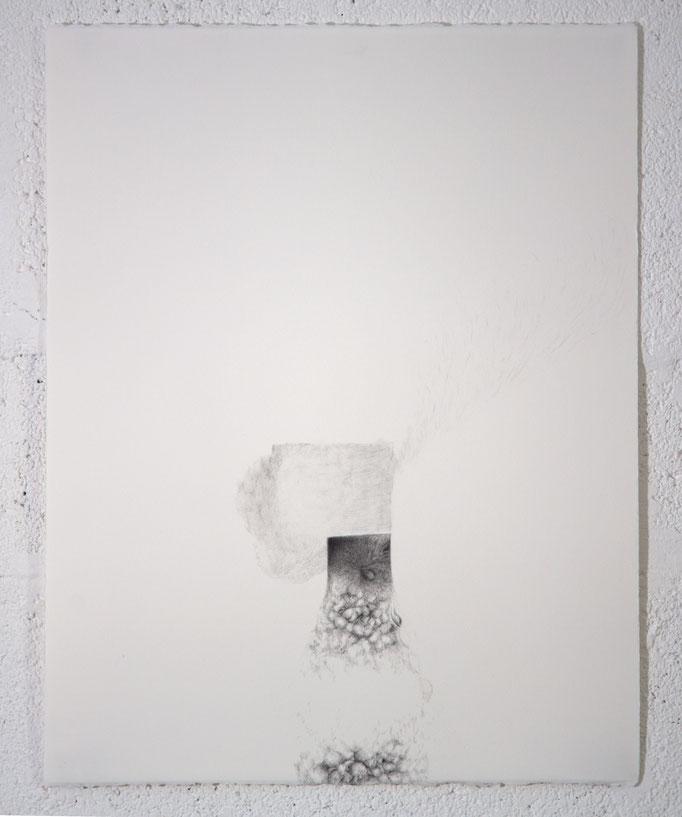 """""""Ce qui est ZACHAR et NEKEVA"""", dessin, 50,5x65,5 cm, graphite sur BFK Rives, 2019"""