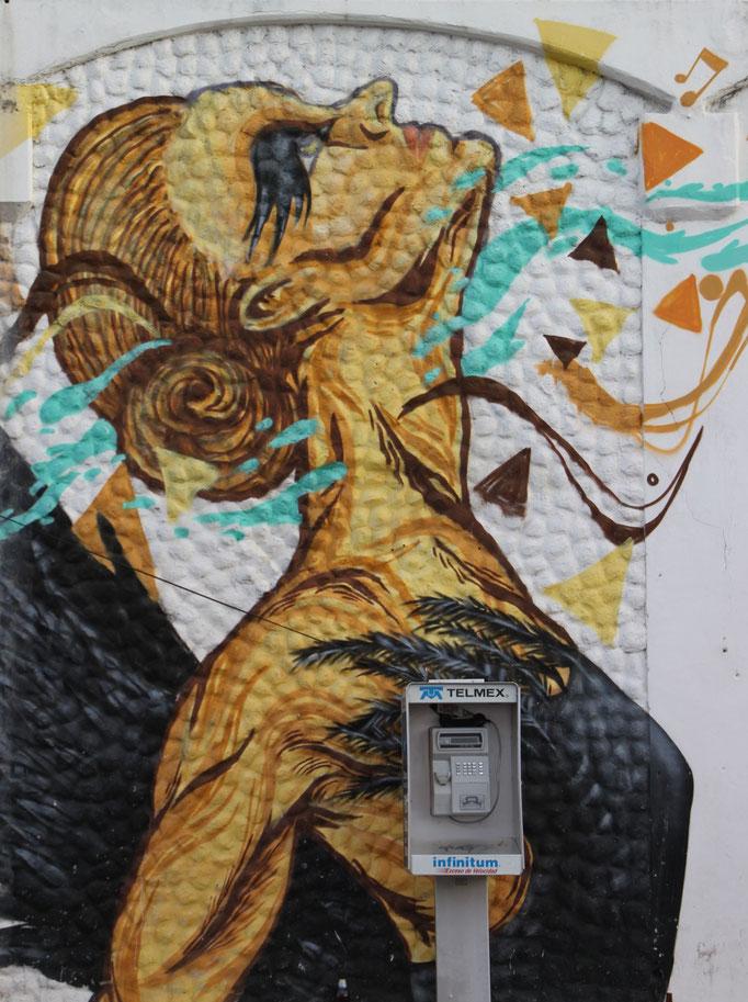 Fresque murale à TULUM.