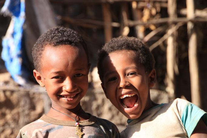 Dans un village au SIEMEN.