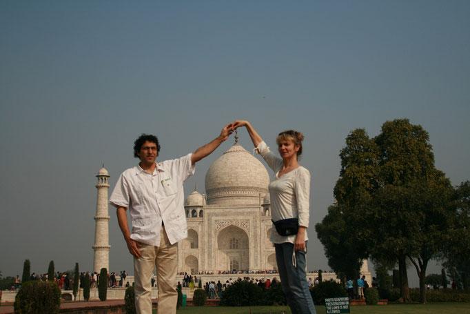 Le Taj Mahal à Aggra. INDE DU NORD.