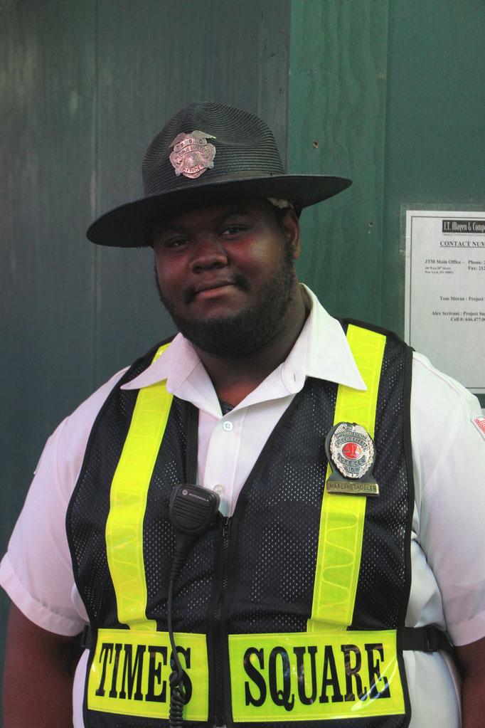 Agent de sécirité à the Times Square.