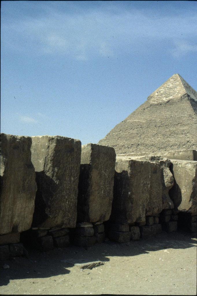 Bloc de pierre pour la construction des pyramides.