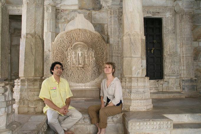 Temple Jaïn en marbre. INDE DU NORD.