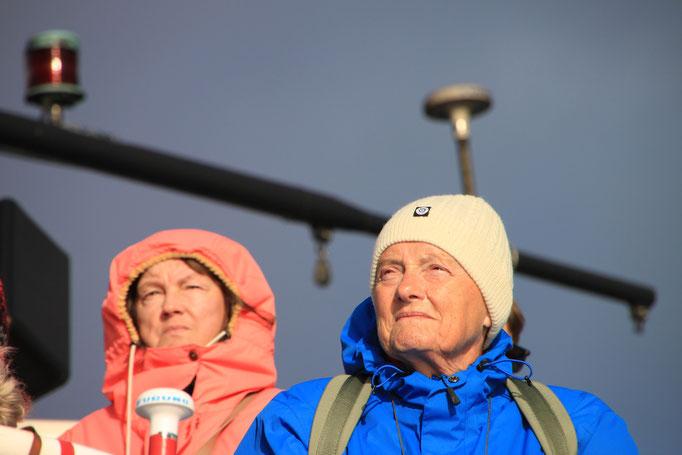 Sur le bateau à l'affût des baleines au large de REYKJAVIK.