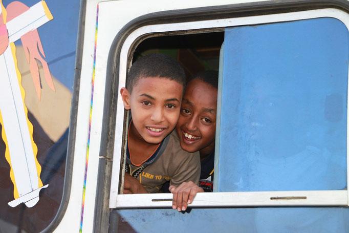 Dans un bus à ADDIS-ABEBA.