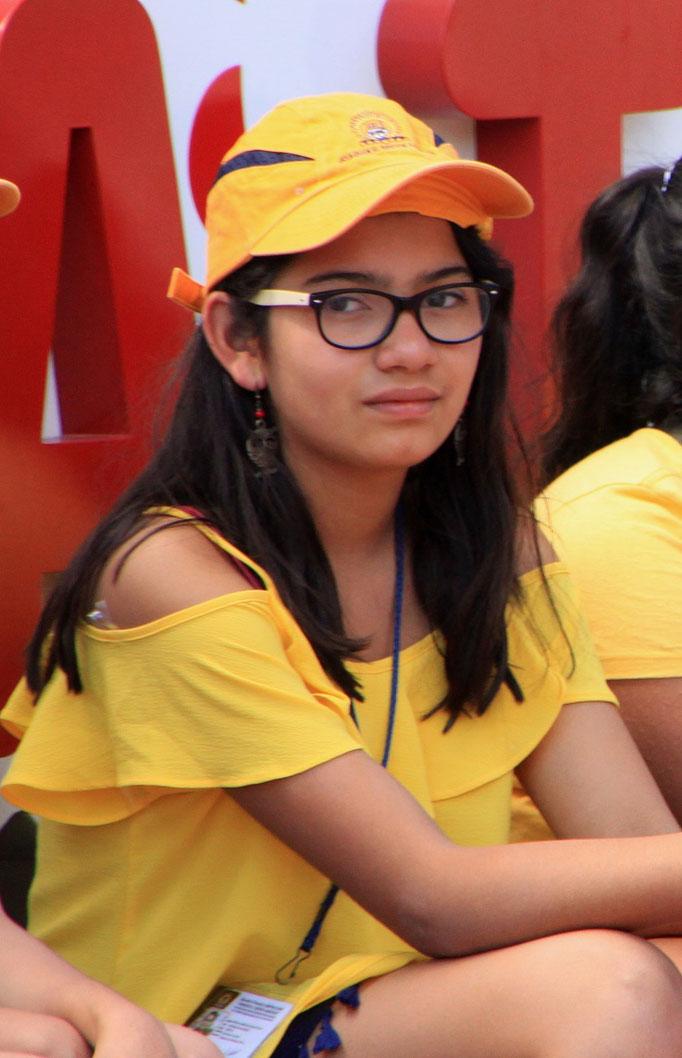 Etudiante sur le site d'UXMAL.