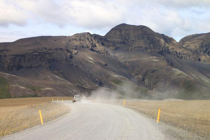 Sur les pistes près de HVOLSVÖLLUR.