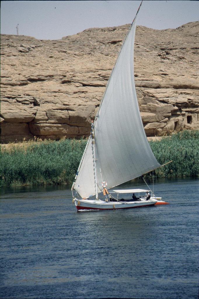 Felouque sur le Nil. EGYPTE