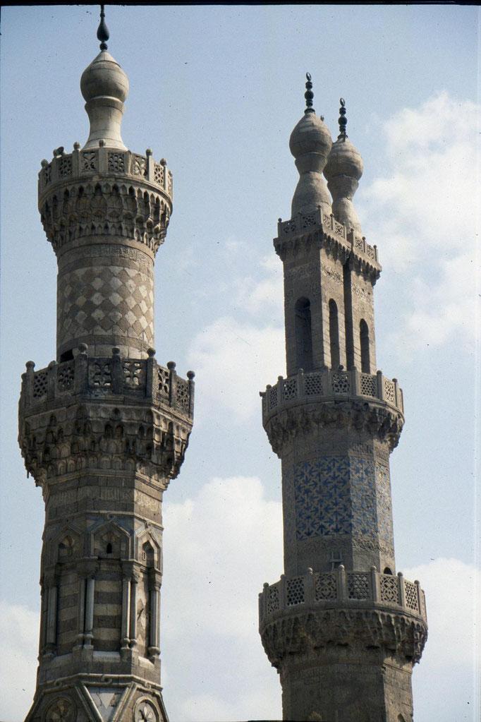 Minaret de la grande mosquée Al-Azhar au CAIRE.