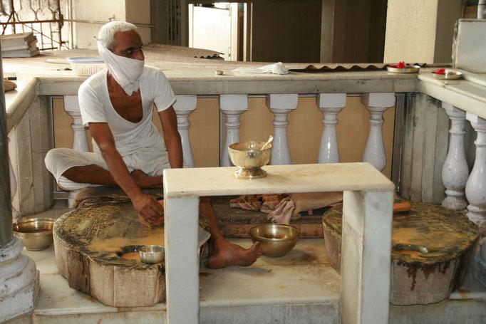 Un Jaïn, religion issue de l'hindouisme. JODHPUR.