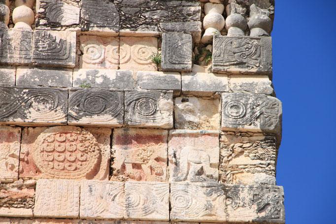 Fresque Maya sur le site d'UXMAL.