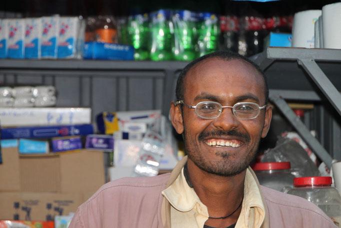 Vendeur de rue à ADDIS.