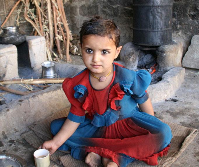 Dans une famille Bishnoï près d'ORCCHA.