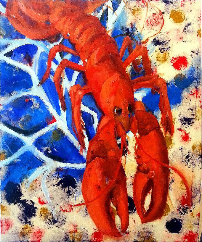 Lobster 2016, 110x90cm, Acryl auf Leinwand