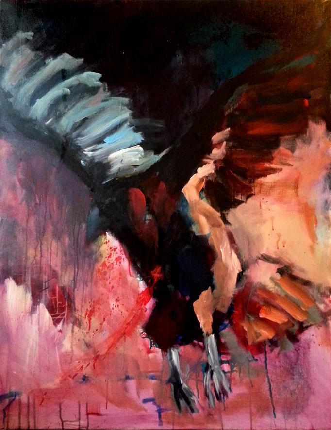 Hitchcocks Vermächtnis 2015, 100x80cm,Acryl auf Leinwand