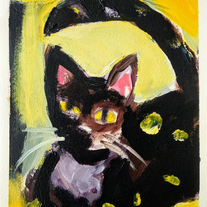 Cats I, 2018, 30x20cm, Acryl auf Bütte