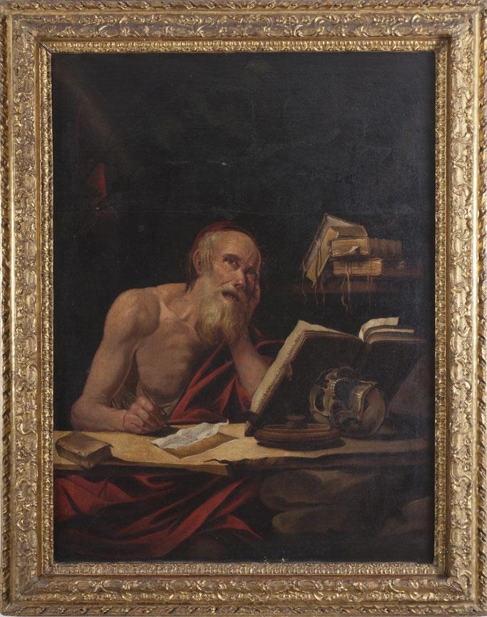 "Jusepe de RIBERA (Játiva 1588-1652 Neapel) Umkreis, ""Der Hl. Hieronymus"", Öl/Leinwand, 115,5 x 87 cm"