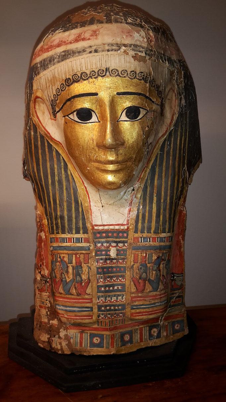 Mumienmaske vergoldet, Ägypten 2. Jhdt. v. - 1. Jhdt. n. Chr.