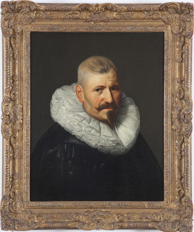 "Michiel Jansz. van Mierevelt (Delft 1566-1641) Umkreis, ""Portrait eines Edelmannes"", Öl/Leinwand, 62 x 50 cm"