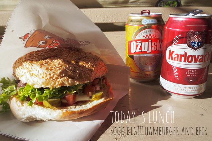 旧ユーゴスラビアの国4カ国目クロアチアのドブロブニク 最近よく見るようになったハンバーガー