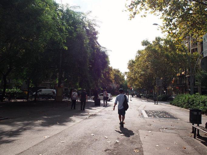 サンパウ病院からは街の様子を眺めなからしばらくお散歩することに