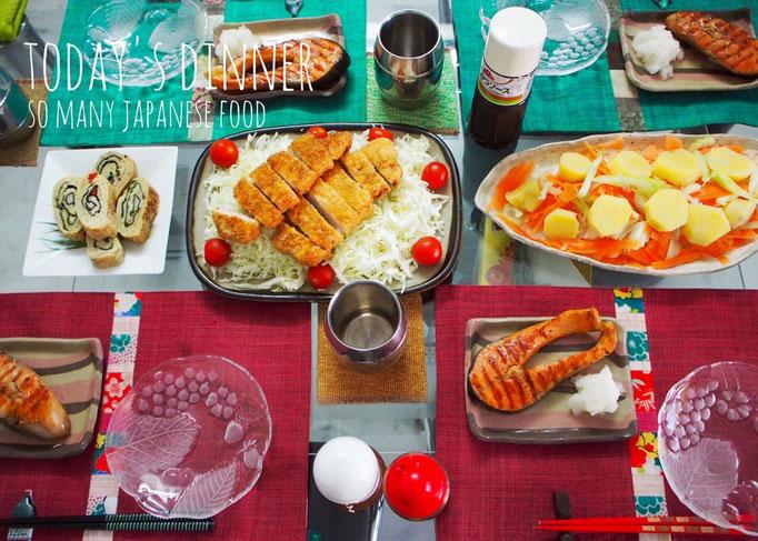 滞在中に ホストさんが作ってくれた 和食いろいろ