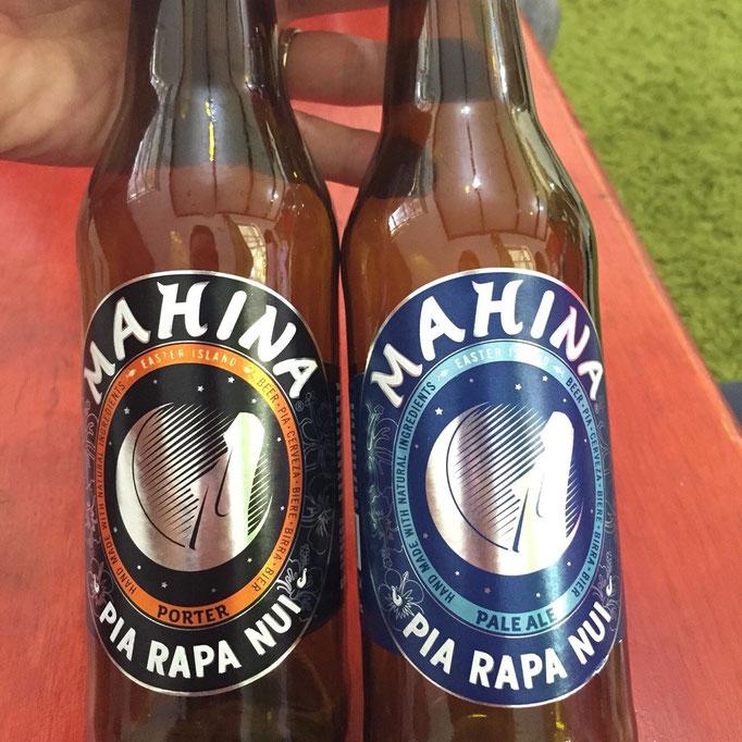 イースター島の地ビール ラベルの真ん中にはモアイのイラスト入り
