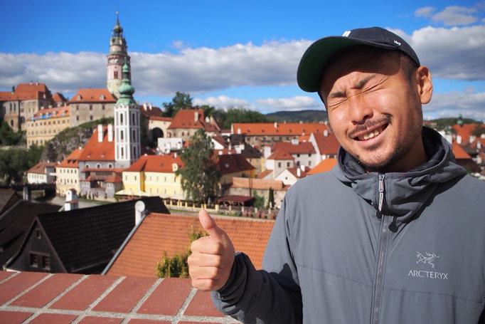 チェスキークルムロフの町も プラハと同じく世界遺産に登録されている町