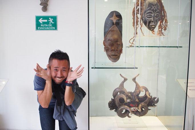 廊下にあった展示品などのスペイン語の解説も訳してもらえたり いろいろと大助かり