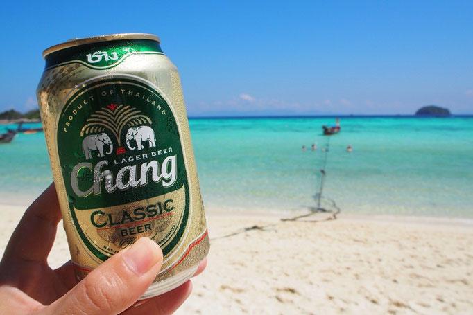 海といえば やっぱりビール それくらい ビールが好き