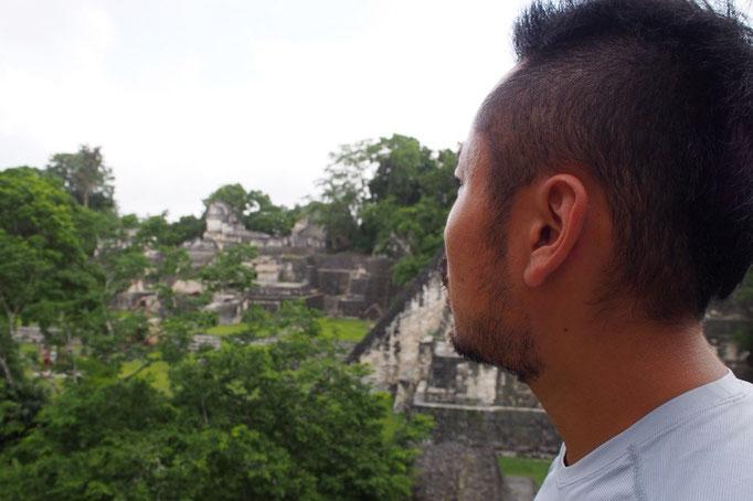 こんなジャングルに中にこれだけ大規模な建造物を作ったマヤ文明の偉大さを思い知らされます