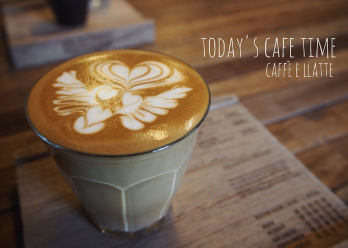 フワフワミルクのラテアートが素敵なカフェラテは 見て楽しくて 飲んで幸せな一品
