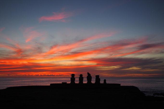 最後にきれいな夕陽を観ることができたので 少しさみしいけれど元気に出発できそう