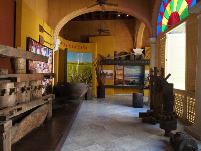 かつてラム酒の製造につかっていた物の展示や映像 ジオラマを使った展示など見ごたえ十分