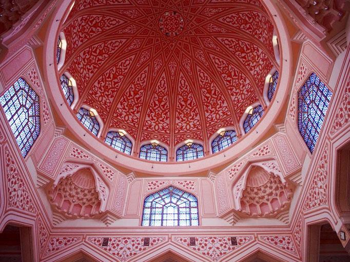 天井のドームの様子 どこをどう切り取ってもかわいいモスク