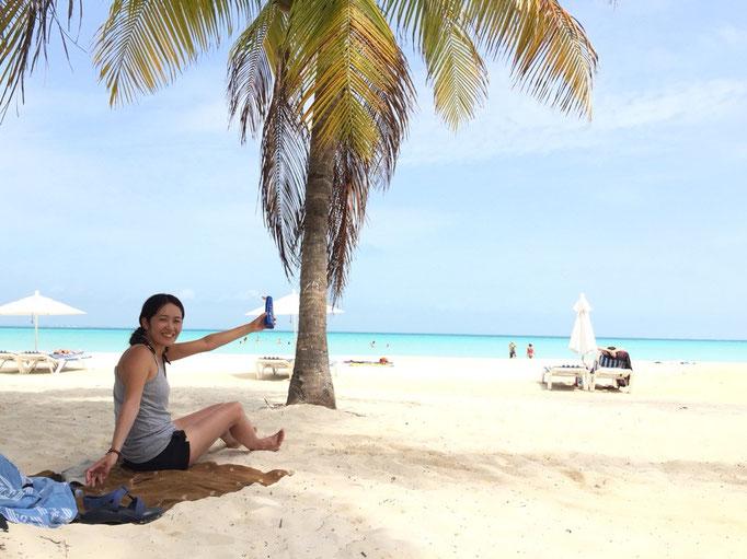 カリブ海に来てからというもの 泳ぐ練習が楽しくて仕方がない私