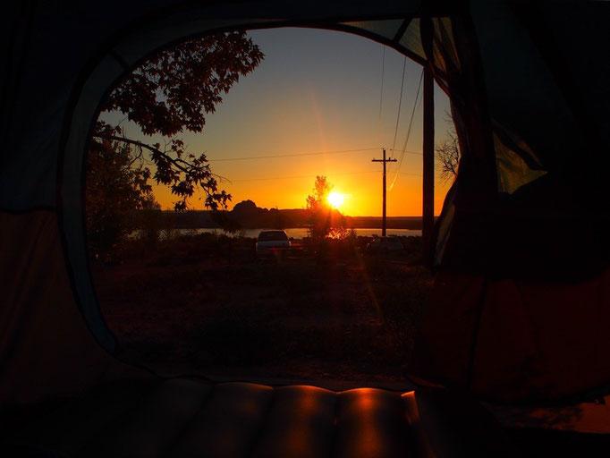 いつかキャンプをした時にはと憧れていた このアングルからの写真♡